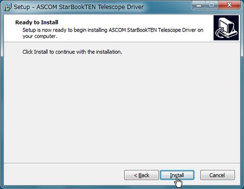 Click [Install] to start installation.